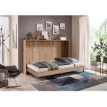 Wimex Schrankbett Juist, horizontal klappbar braun Betten Möbel mit Aufbauservice