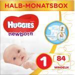 Windeln Newborn Größe 1, 2-5kg, Halb-Monatsbox Huggies (84 St)