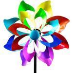 Windrad für den Garten aus Metall Blume lila/blau/rot/grün 166 cm Groß