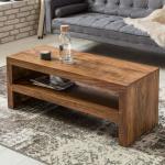 Wohnling Couchtisch MUMBAI Massiv-Holz Durban Sheesham 110 cm breit Wohnzimmer-Tisch Design braun Landhaus-Stil Beistelltisch (193,99 € pro 1 stk.)