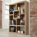 Wohnzimmerregal aus Sheesham Massivholz handgearbeitet
