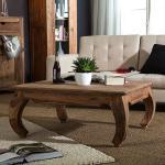 Wolf-Möbel Couchtisch Indien Opium Massivholz Sheesham Quadratisch Landhaus 60x40x60 cm (BxHxT)
