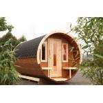 Wolff Finnhaus Campingfass 330 1-Raum Bausatz schwarz Ø235x330