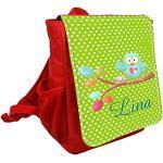wolga-kreativ Kleiner Rucksack Kindergartentasche Eule am AST Kinderrucksack Kindergartenrucksack Mädchen Jungs Kinder mit Namen Tagesrucksack Kindergarten Kindertasche