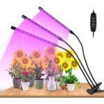 wolketon LED Pflanzenlampe Grow Light Pflanzenleuchte Pflanze 4 Kopf Light Lamp 40W