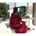 Wolldecke Cortina rot aus 90% Schurwolle und 10% Alpaka 135x200-220cm - wunde...