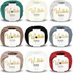 Wollidu Kira 100 % Baumwolle zum Stricken und Häkeln 9 x 50g Set Häkelgarn Strickgarn Bunt Farbmix 2