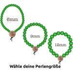 WOOD FELLAS Armband » Holz-Armband basic Schmuck Deluxe Pearl Bracelet mit Holzanhänger Neongrün«, grün