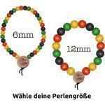 WOOD FELLAS Armband » Holz-Armband modischer Arm-Schmuck Deluxe Pearl Bracelet Holzanhänger Bunt«