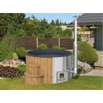 WOODTEX Badefass Hot Tub Deluxe 35 kW Heizungskapazität