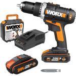 Worx Akku-Bohrschrauber WX183.1 20 V, 2,0 Ah, 2 Akkus , 50 Nm (GLO761021048)
