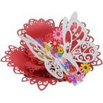 WOZOW Stanzschablone Scrapbooking Stanzmaschine Prägeschablonen einladung Grußkarte Geschenk Dekoration Schneiden Stanzformen Schablonen (K Schmetterling)