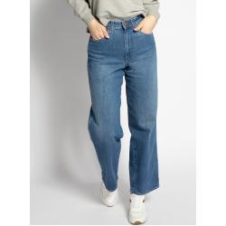 Blaue WRANGLER Mom-Jeans & Karottenjeans mit Knopf für Damen