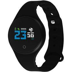 X-WATCH EuroChamp Fitness Tracker mit Zwei Wechselarmbändern und IP68 Wasserdichtigkeit - Schlafanalyse - Schrittzähler - Android und iOS 54054
