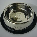 XL Fressnapf POSH 1,5 L / 30cm / Edelstahl Antirutschring Futternapf Wassernapf (1 Stück)
