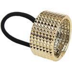 XXL Haarring Haargummi Ring Cleopatra Zopf Scrunchy Pferdeschwanz Hair Spikes, Farbe: Gold