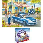 """XXL Puzzle, Bodenpuzzle, """"Auf Streife mit der Polizei"""", 45 Teile"""