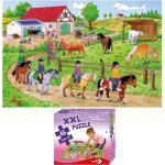 "XXL Puzzle, Bodenpuzzle, ""Ferien auf dem Ponyhof"", 45 Teile"