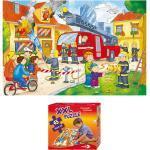 XXL Puzzle, Bodenpuzzle, Feuerwehr im Einsatz, 45 Teile