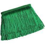 Yalulu 10 Meter Länge 10cm Breite Quaste Seide Fransen Geschnitten Fransenborte Kostüm Quaste Trimmen Apparel Fransenband Nähzubehör (Grün)