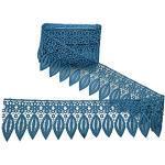 Yalulu 5 Yards Blatt Spitzenband Häkelspitze Spitzenborte Spitze Nähen Spitzenbesatz Bänder Seidenbänder Hochzeit Deko (Blau)