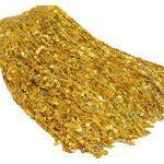 Yalulu 6.5 Yards Länge 30cm Breite Pailletten Quaste Schnittfranse Fransenborte Fransenband Trimmen Kostüm Lateinisches Kleid Garment Apparel Spitzenborte Nähzubehör (Gold)