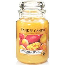 Yankee Candle Duftkerze im Glas (groß)   Mango Peach Salsa   Brenndauer bis zu 150 Stunden