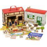 yoamo Bauernhof für Kinder inkl. Adventskalender mit 24 Holzfiguren, hochwertigem Spielkoffer und weihnachtlicher Tier-Geschichte, mehrfarbig, 27-teilig (1 Set) 1