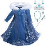 Weiße Langärmelige Die Eiskönigin - völlig unverfroren Elsa Prinzessin-Kostüme für Kinder