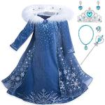 Blaue Langärmelige Die Eiskönigin - völlig unverfroren Elsa Faschingskostüme & Karnevalskostüme für Kinder