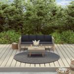 Youthup - 2-tlg. Garten-Lounge-Set mit Auflagen Poly Rattan Beige