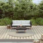 YOUTHUP 2-tlg. Garten-Lounge-Set mit Auflagen Poly Rattan Schwarz