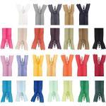 YuChiSX 52 Stück 8 Zoll/20 cm Reißverschluss, Nylon Reißverschlüsse 26 Farben, Unsichtbare Reißverschlüsse, Nylon Bunte Spule Reißverschlüsse für Handwerk Nähen DIY Sewing Craft