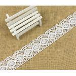 yulakes 10 Yards Baumwolle Spitzenband, 4.3 cm Blumenmuster im Vintage-Stil Edge Trimming für Craft, Kleidung Zubehör und Hochzeit Bridal Dekoration - y04005 weiß