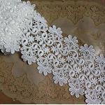 Yulakes 2 Yard 10cm Baumwolle spitzenband Vintage Häkelband Spitze Borte Häkelspitze Häkel-Borte Spitzenband für Nähen Handwerk Hochzeit Deko