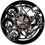 YUN Clock Wanduhr aus Vinyl Schallplattenuhr Upcycling Kingdom Hearts - 3D Design-Uhr Wand-Deko Vintage Familien Zimmer Dekoration Kunst Geschenk Ø: 30 cm
