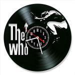 YYIFAN 30,5 cm Wanduhr aus Vinyl The Who Band, moderne kreative 3D-Schallplatten-Wanduhr, digitale Quarz-Uhr, einzigartiges handgefertigtes Geschenk, Heim-Innenwanddekoration