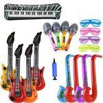 ZCOINS 18 STÜCKE Aufblasbare Gitarre Saxophon Mikrofon Gläser Ballons Musikinstrumente Zubehör Für Party Requisiten Partydekorationen Ballons-Zufällige Farbe