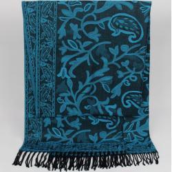 ZEBRO Modeschal »Pashmina mit Paisley-Muster«, blau, blau
