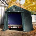 Zeltgarage 2,4x3,6m, PVC 500 dunkelgrün Garagenzelt