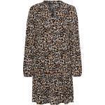 zero Kleid mit Volants braun - 1005115