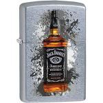 Zippo Jack Daniels Benzinfeuerzeug, Messing, Edelstahloptik, 1 x 6 x 6 cm