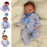 ZIYIUI Reborn Baby-Puppe 20Zoll 50cm Realistisch Baby Puppe lebensecht Weiches Vinylsilikon Reborn Baby Junge Handgemacht Neugeborene Echte Babypuppe