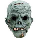 Zombie Maske des Grauens aus Latex - Erwachsenen Horror Kostüm Vollmaske - ideal für Halloween, Karneval, Motto- & Grusel-Party