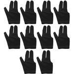 ZRM&E Billardhandschuhe mit 3 Fingern, für Snooker, Shooter, Queue, Pool-Handschuhe, passend für linke und rechte Hand, Schwarz, 10 Stück