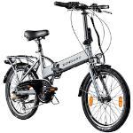 Zündapp E-Bike Z101, 6 Gang, Shimano, Tourney, Heckmotor 250 W silberfarben E-Bikes Fahrräder Zubehör