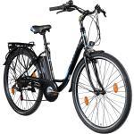 Zündapp Z505 28 Zoll E-Bike Citybike Pedelec 700c Tiefeinsteiger Damenfahrrad Heckantrieb... 48 cm, schwarz/blau