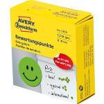 Zweckform Bewertungspunkte 3858, grün, Ø 19 mm, Smiley, 250 Stück