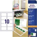 Zweckform C32011-25 Visitenkarten weiß matt 85 x 54 mm 200g 250 Stück