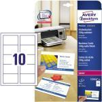 Zweckform C32016-25 Visitenkarten weiß 85 x 54 mm 220g 250 Stück